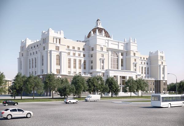 Новое строение  Нижегородского облсуда готово ксдаче вэксплуатацию на80%