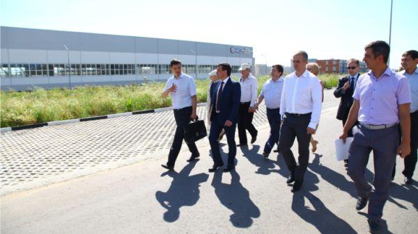 Иван Моторин и Алексей Ладыков проверили ход работ на площадке Индустриального парка 1-ой  и 2-ой очереди в Чебоксарах