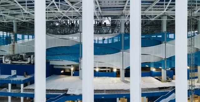 Монтаж фасадных мембран настадионе «Нижний Новгород» завершен