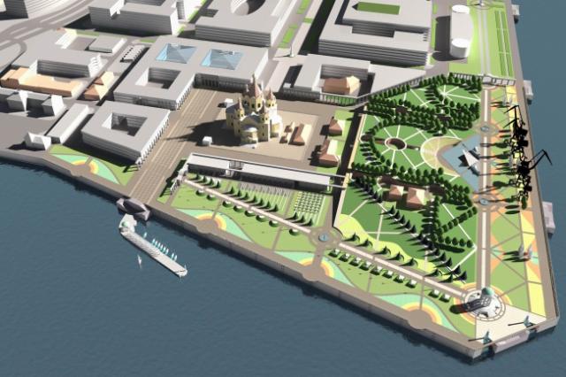 Православный парк воинской славы планируется сделать наСтрелке наместе речного порта