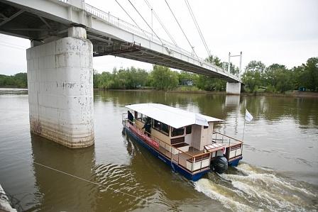 Первый речной трамвай запущен в Оренбурге