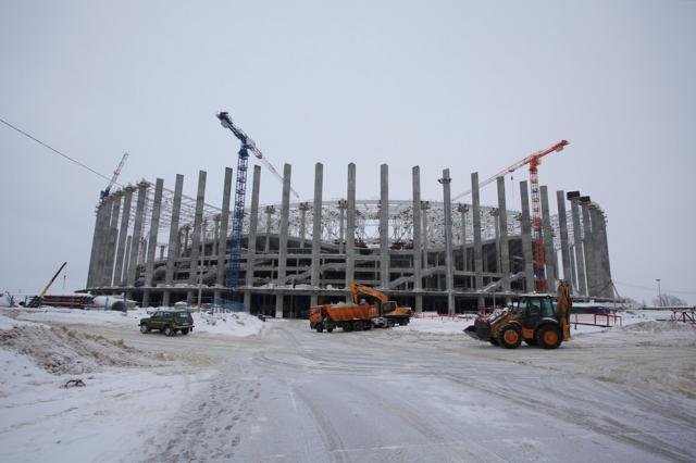 Настадионе «Нижний Новгород» выполняется демонтаж временных элементов