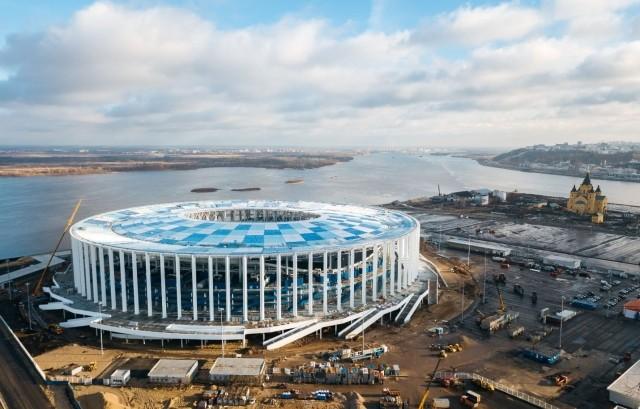ВНижнем Новгороде завершен монтаж кровли стадиона кЧМ