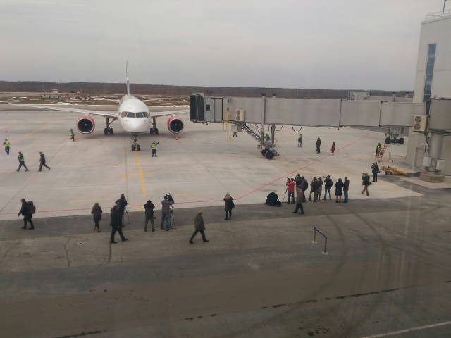 1-ый международный рейс принял новый терминал аэропорта Стригино
