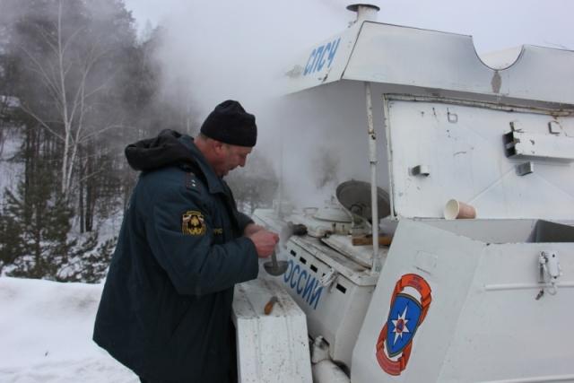 Всвязи сморозами МЧС развернули пункт обогрева натрассе М-7