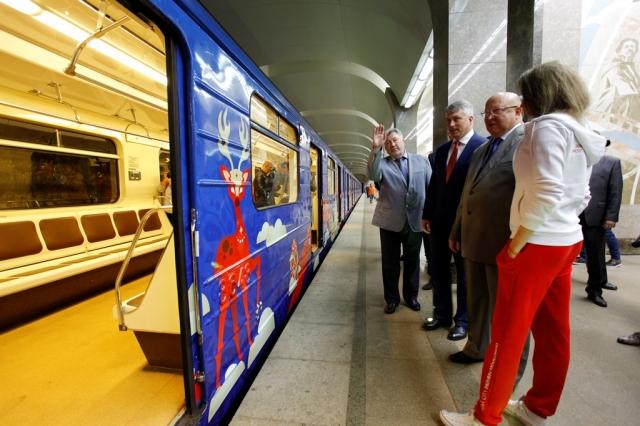 Поезд FIFA 2018 появился внижегородском метро