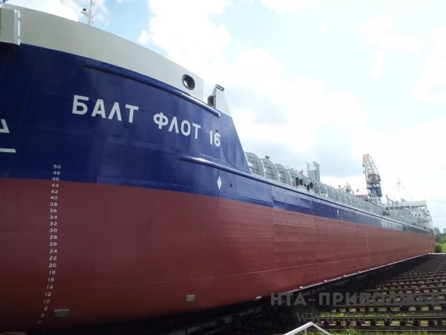 Неповторимый танкер-химовоз спущен наводу вНижнем Новгороде